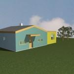 Dům s přístavbou dětského pokoje