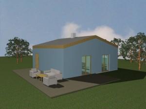 První fáze domu před přístavbou